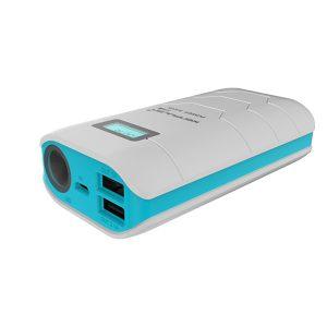 Аккумулятор Power Bank Capsule 10000mAh, Внешнее зарядное устройство Konfulon, Цвет белый с синим.