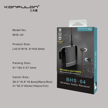 Блютус приемопередатчик Wireless Audio Receiver BHS-04 Konfulon, Цвет - белый.