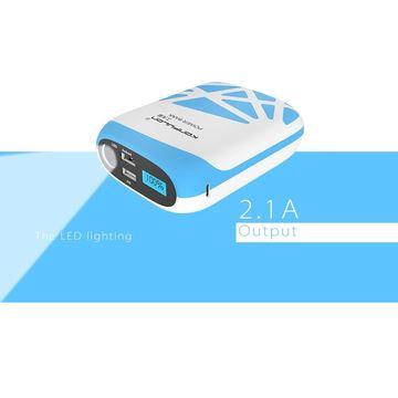 Power Bank Nest II 15000mAh, внешнее зарядное устройство, Повербанк, цвет синий.