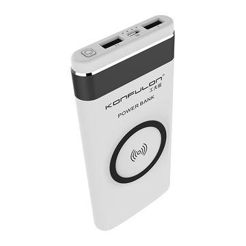 Wireless Power Bank M11W 10000mAh, Беспроводное внешнее зарядное устройство, Повербанк, Цвет: с золотой полосой