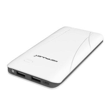 Аккумулятор Konfulon Edge II 10000 mAh, Внешнее зарядное устройство, Power bank Konfulon, Цвет: белый с синей полосой