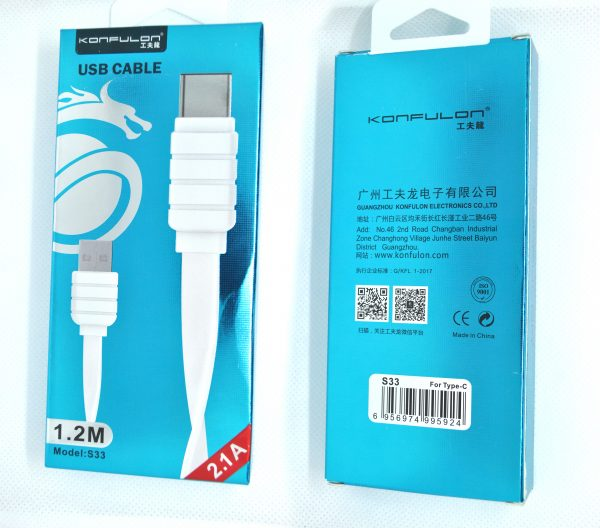 Lightning USB Flat Cable KFL-S32 1,2m 2,1A